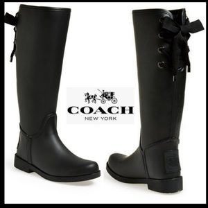 Coach Tristee Waterproof Rain Boots Original Box